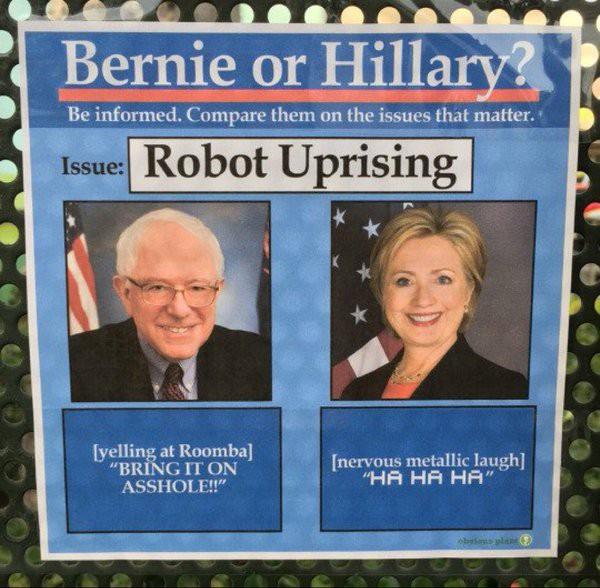 Bernie or Hillary meme