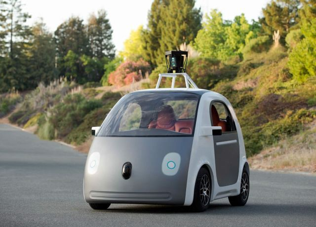 One of Google's self-driving cars.