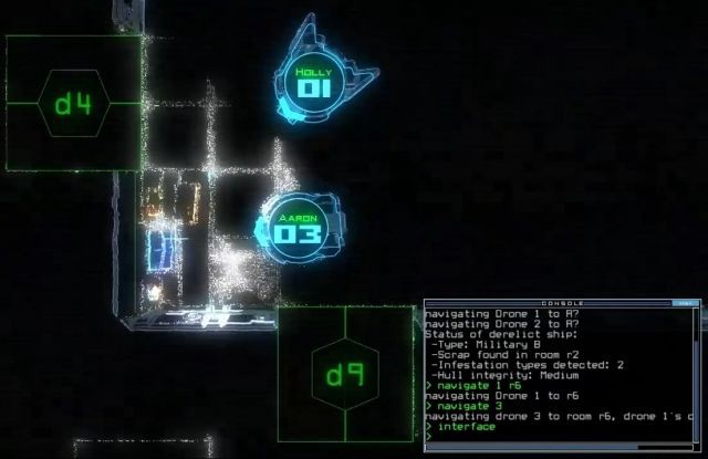 "Screenshot from Duskers, a ""modempunk"" video game."