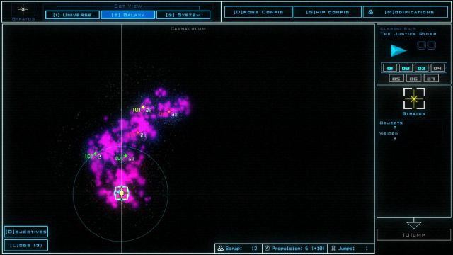 Duskers, a dystopian video game set in space.