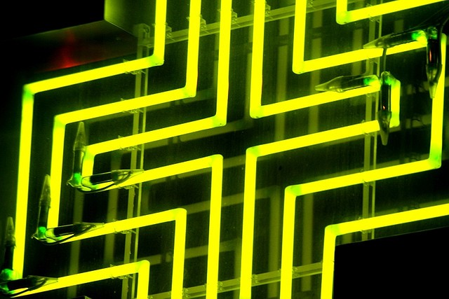 Neon lights. Photo by Elentir.