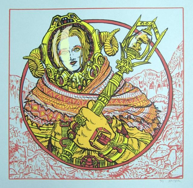 Space Witch II by Kyle Sauter, available as a $25 screen print on Etsy
