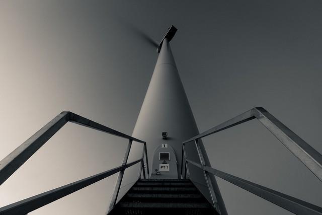 Wind turbine photographed by Paulo Valdivieso.