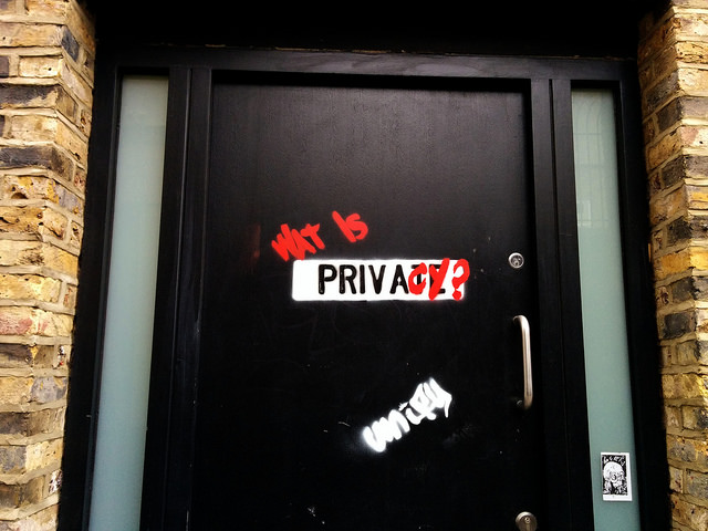 What is privacy? Photo by Cory Doctorow.