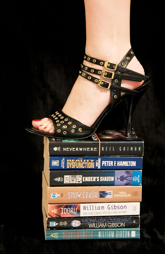 Cyberpunk librarian photo by Cindi on Flickr.