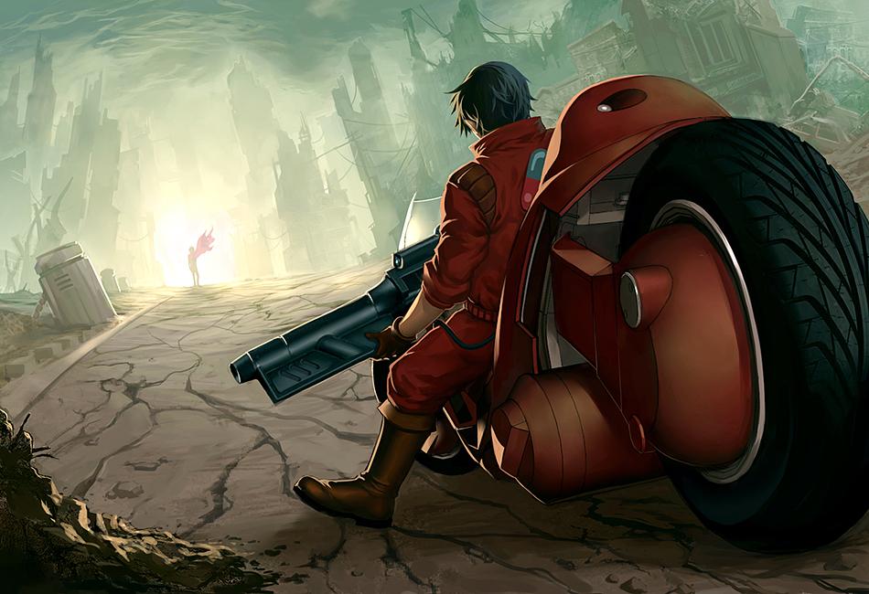 Akira tribute by Quirkilicious. Akira is a landmark cyberpunk anime.