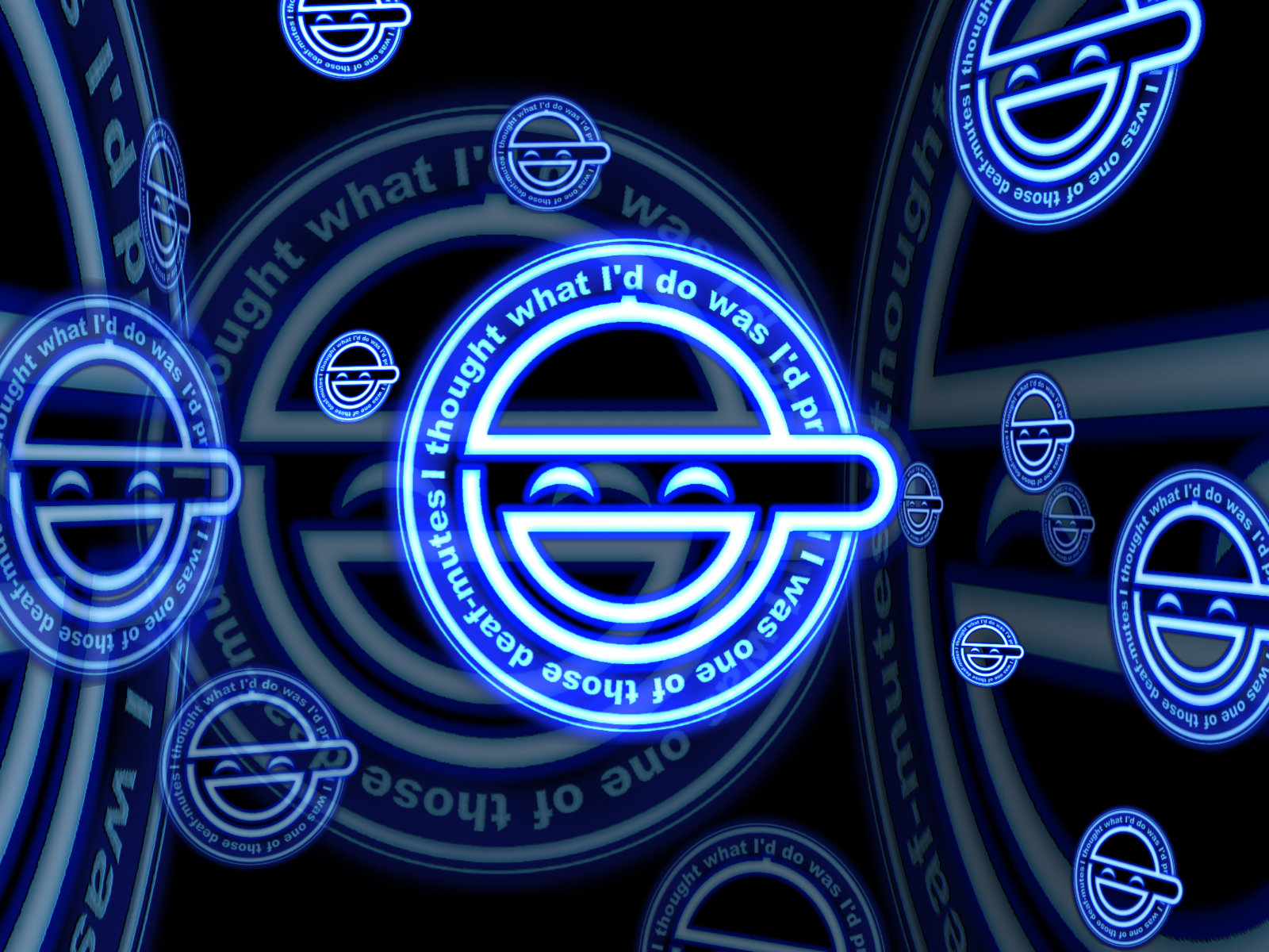 Cyberpunk logo: Laughing Man interpretation by thooley.