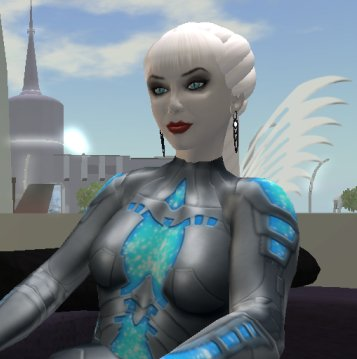 Screenshot of a gynoid by Sophrosyne Stenvaag.