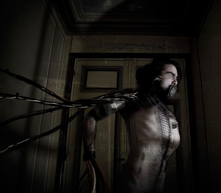 Cyborg self-portrait by Dan Sakamoto.