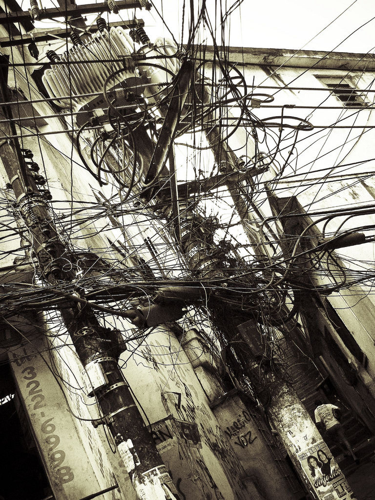 Favela wiring. Photo by anthony_goto.