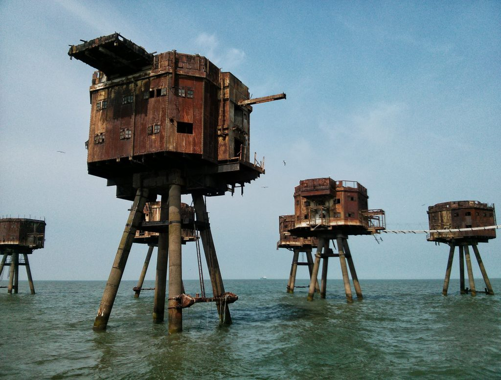 """The Maunsell Sea Forts, part of London's World War II anti-aircraft defences."" Photo by Steve Cadman."