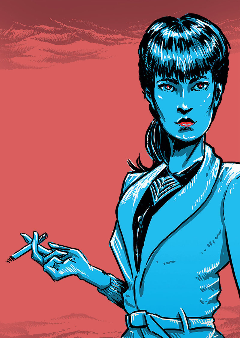 Interpretation of Rachael from Blade Runner by nck-dst-zsk.