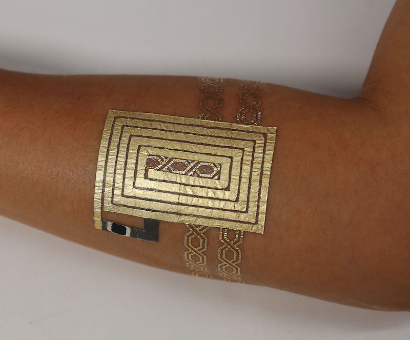 Photo of DuoSkin in action via the MIT Media Lab website.