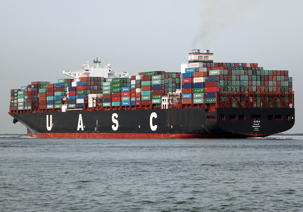 A fully loaded container ship — globalization in action. Photo by Roel Hemkes.