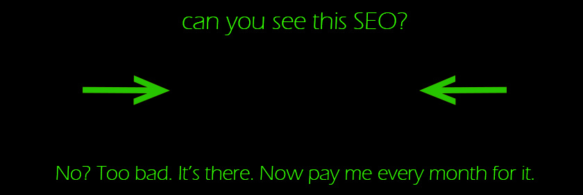 SEO scam. Image by Sean MacEntee.