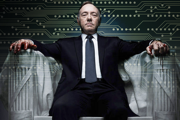 Image via Salon; originator of the ~cyber~ edit unknown. This is Frank Underwood from House of Cards, played by Kevin Spacey.